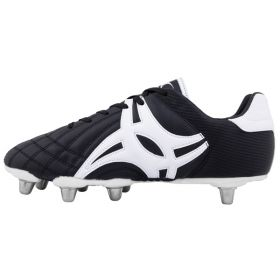 Gilbert Sidestep XV10 Low Cut 6 Stud Rugby Boot-15-Black/White